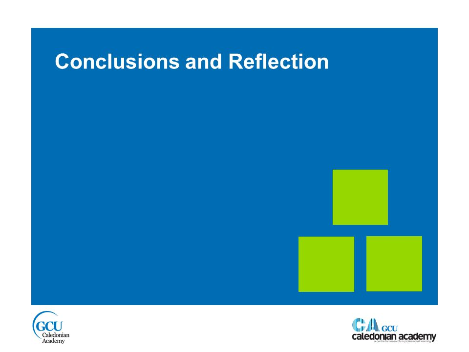 Conclusions and Reflection