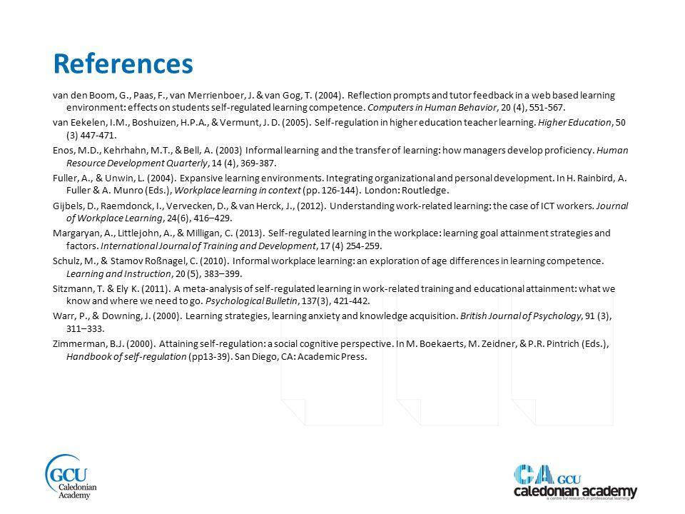 References van den Boom, G., Paas, F., van Merrienboer, J.