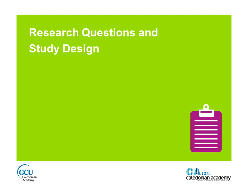 Research Questions and Study Design