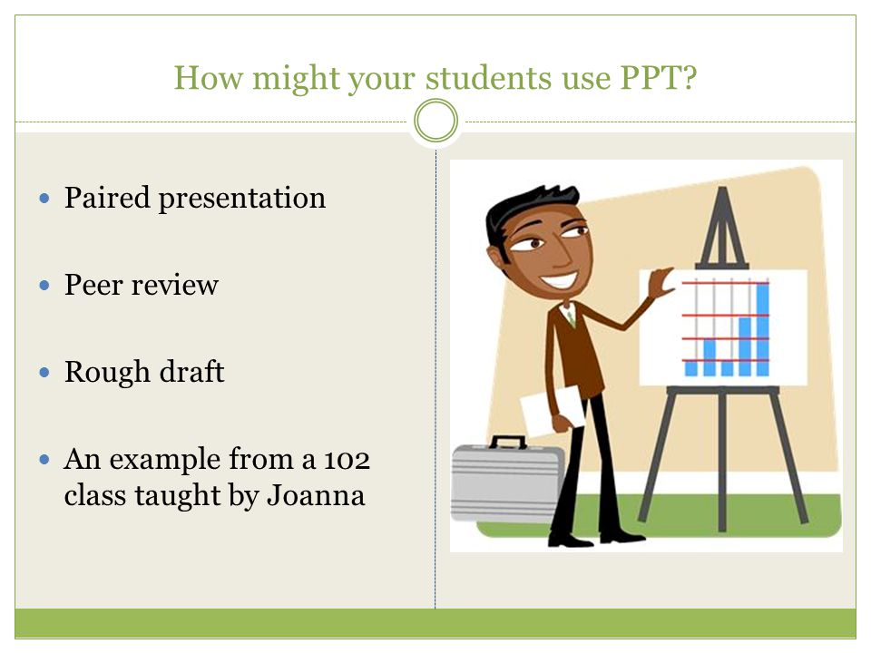 How might your students use PPT.