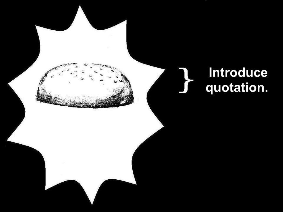 Introduce quotation.