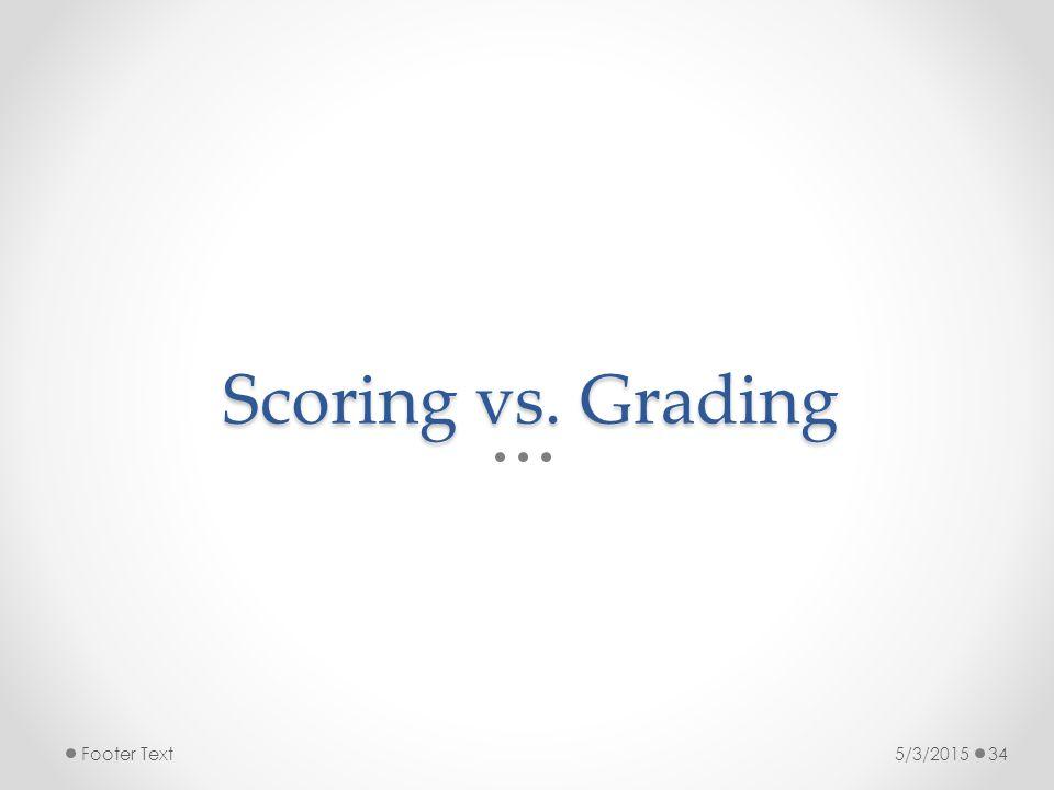 Scoring vs. Grading 5/3/2015Footer Text34
