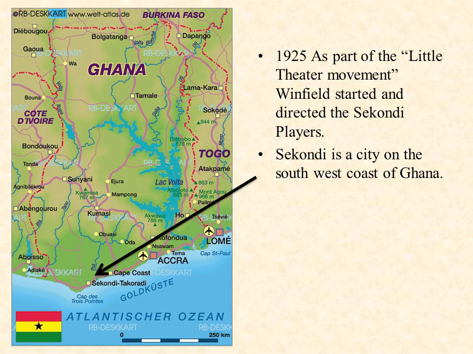 1925 As part of the Little Theater movement Winfield started and directed the Sekondi Players.