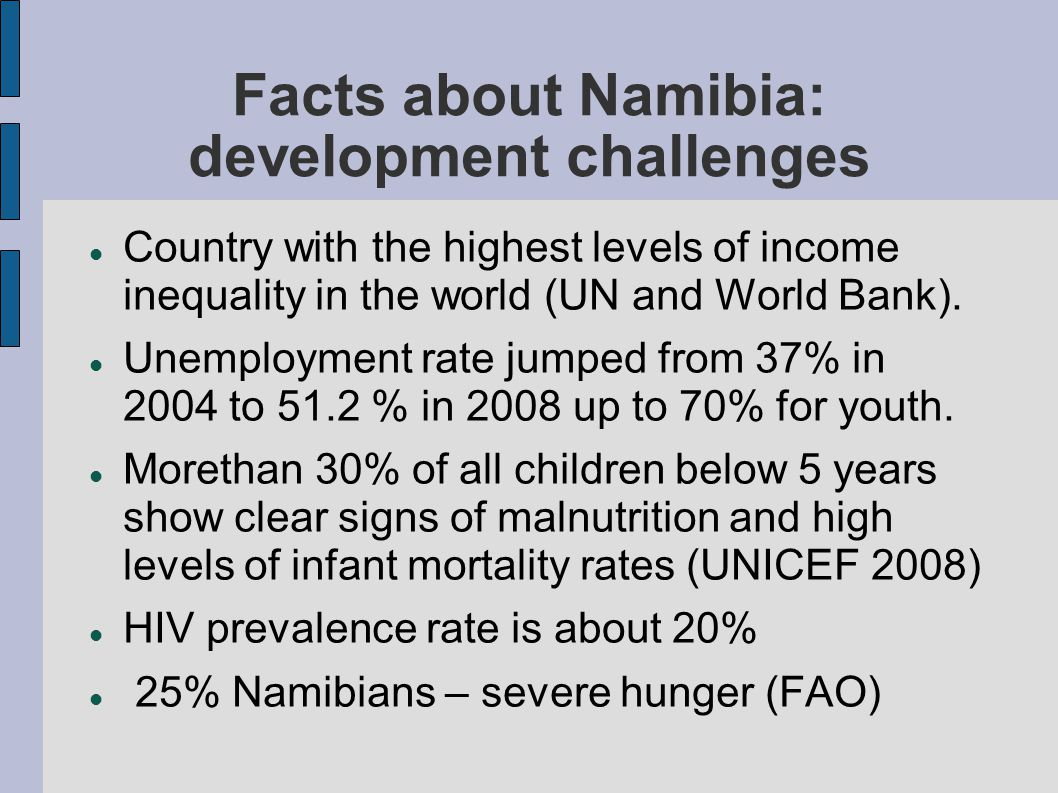 Facts about Namibia: continue...