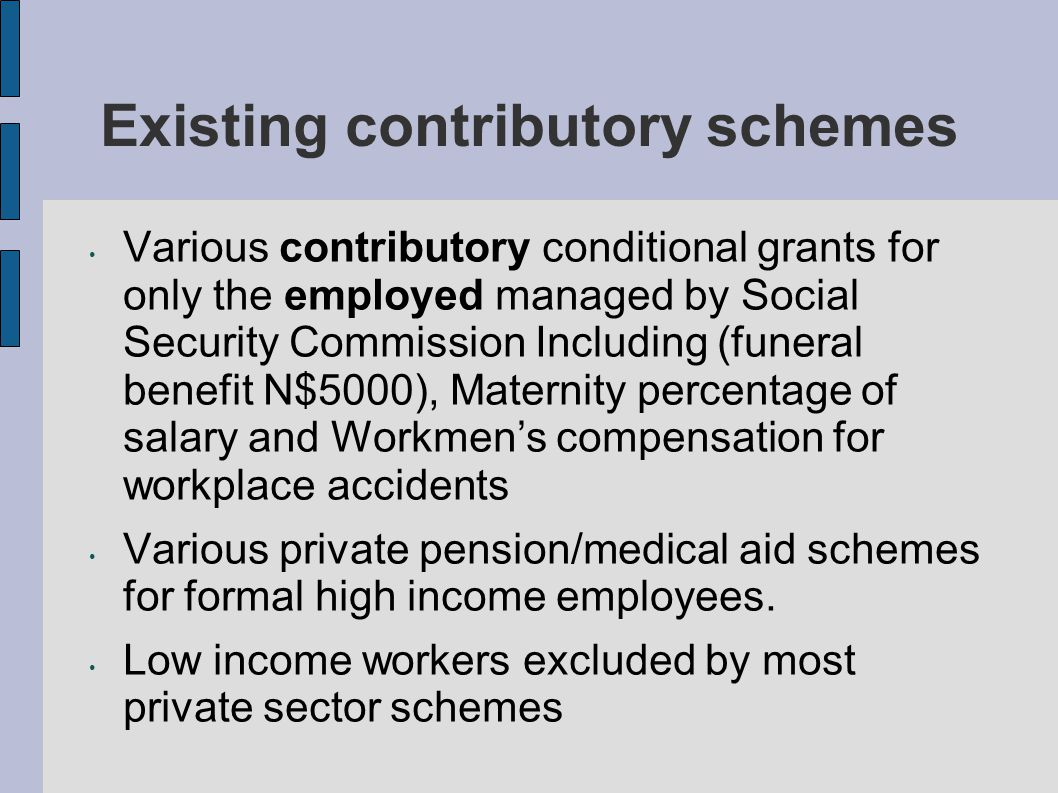 Major challenges with existing forms of social grants Existing social grants have been a relieve for the poor and supports a household (average 6 people) and not only the individual beneficiary Social grants currently covers only a small percentage of the poorest and unemployed BIG Question: What about those not covered by existing social grants.