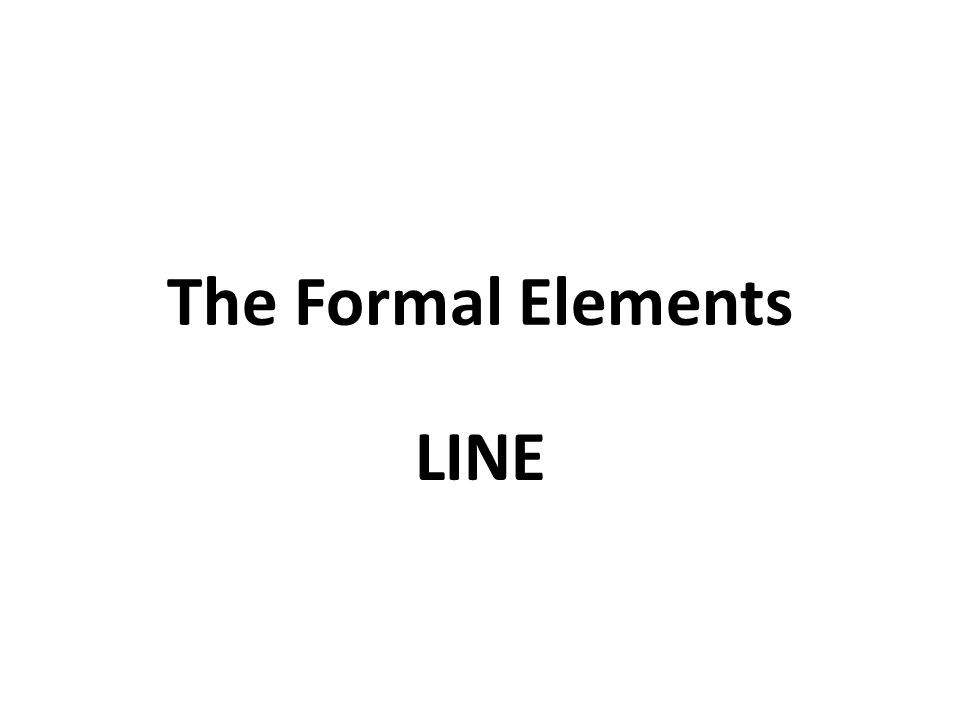 The Formal Elements LINE