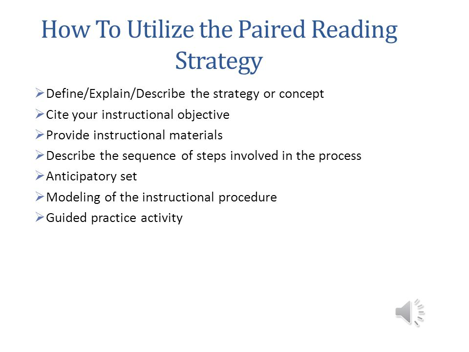 When Should I Use Paired Reading? During READING