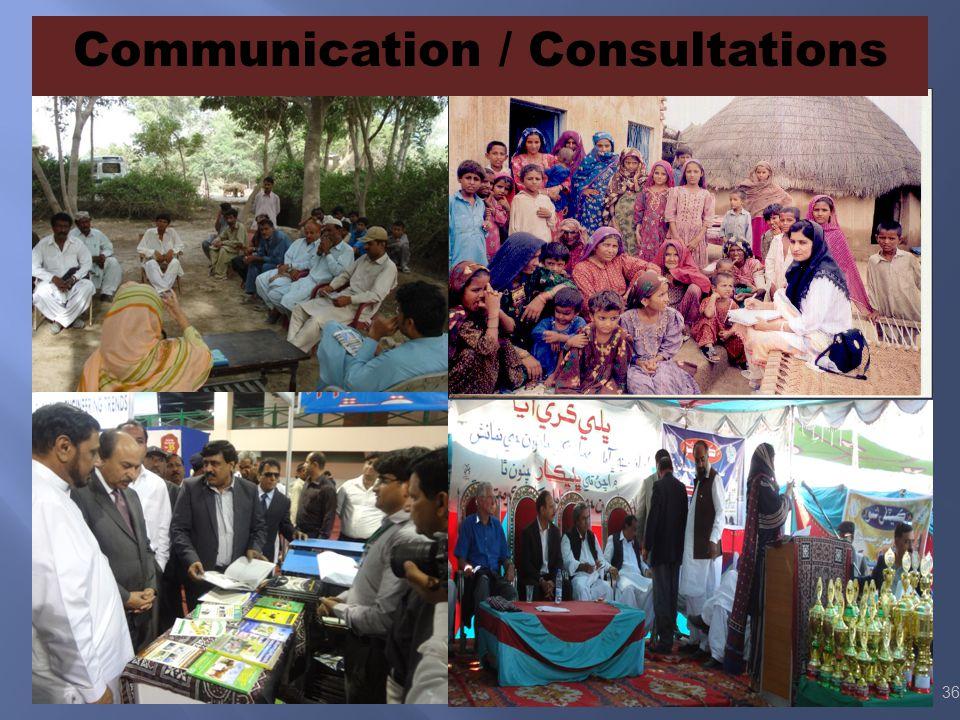 Communication / Consultations 36
