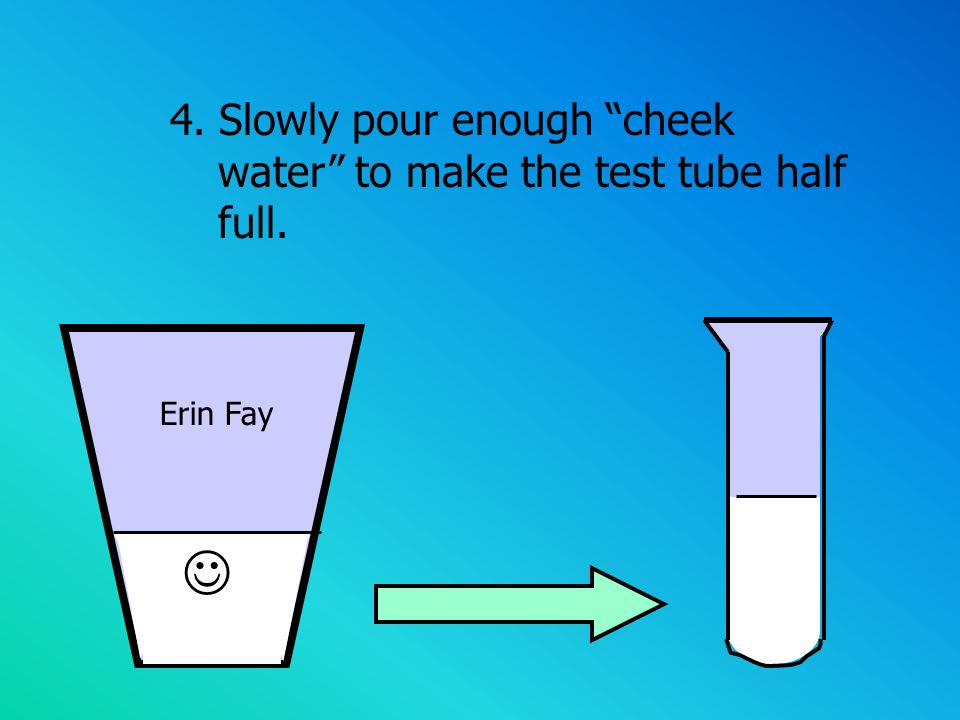5. Add 1 ml/10 drops of detergent solution into your test tube
