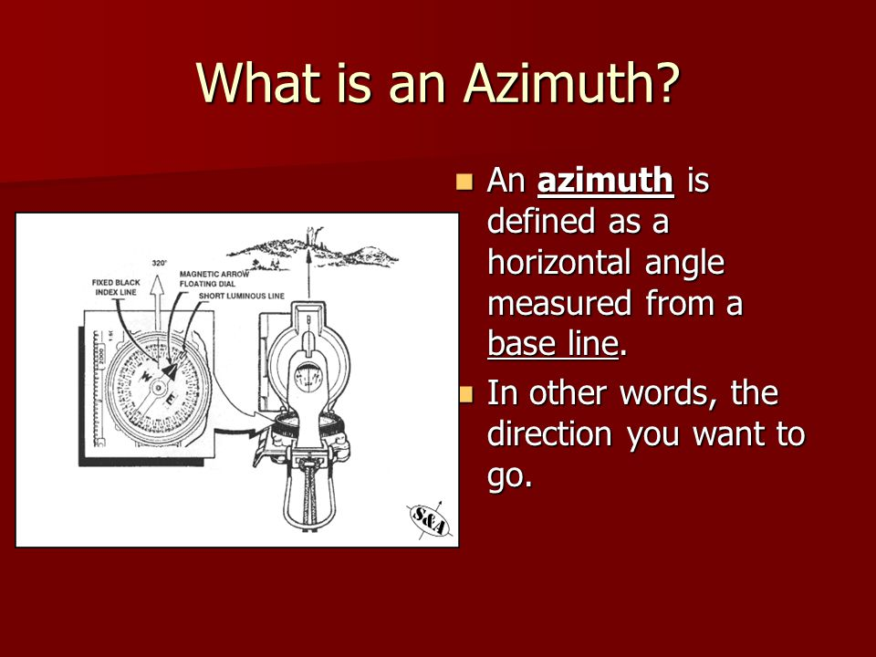 What is an Azimuth.An azimuth is defined as a horizontal angle measured from a base line.