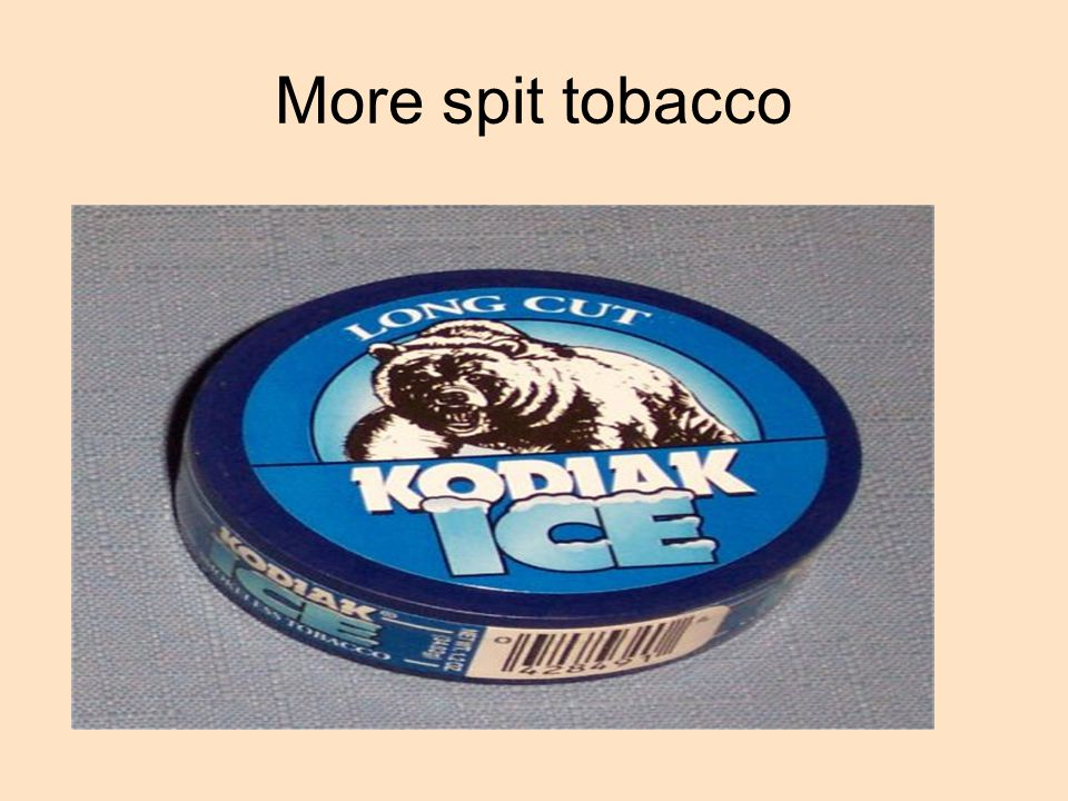More spit tobacco