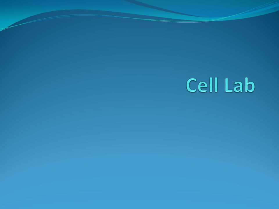 Title: Cell Lab Purpose: 1.To review cell structures and their functions.
