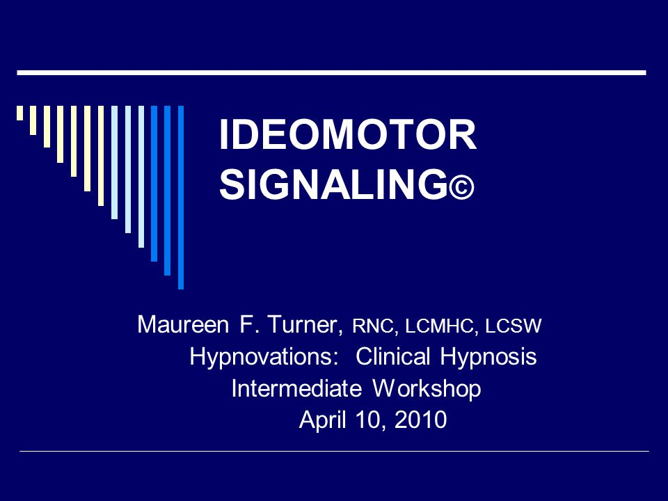 Definition  An ideomotor signal is a subcortical response that comes from the patient's subconscious.