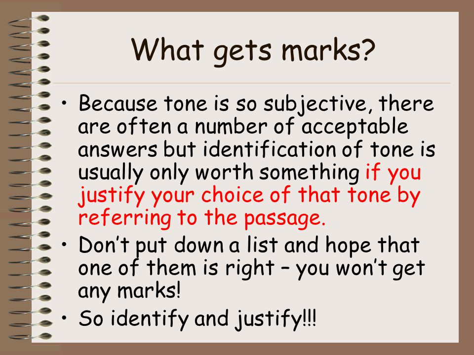 What gets marks.