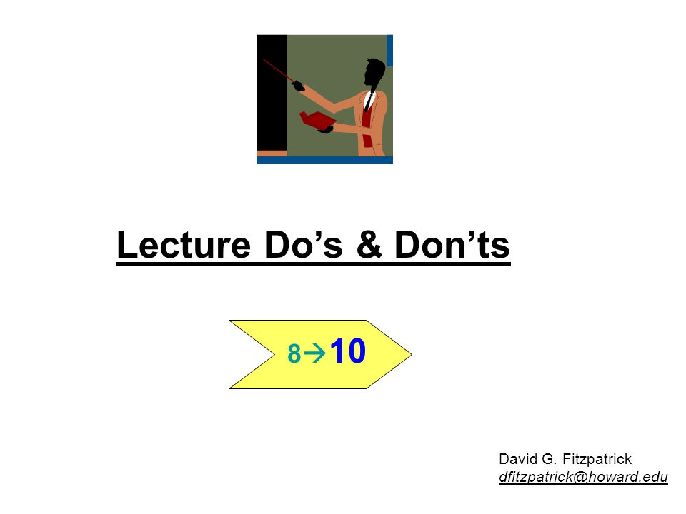 8  10 32 1.Remember Speaker's Credo 2. Be Audience Centric 3.