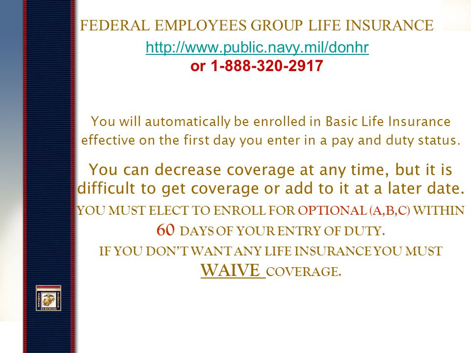 Long Term Care Insurance www.ltcfeds.com Covers long term care costs not covered under regular health insurance.