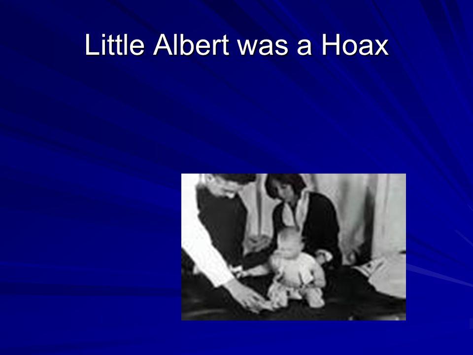 Little Albert was a Hoax