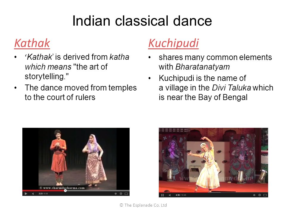 Indian classical dance Kathak ' Kathak' is derived from katha which means