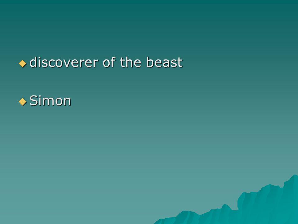  discoverer of the beast  Simon