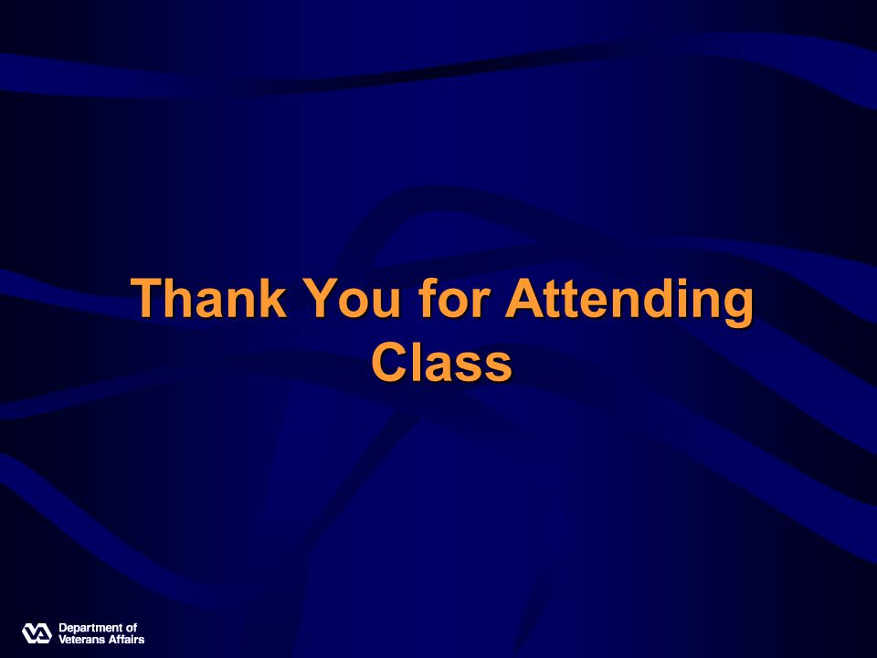 Thank You for Attending Class