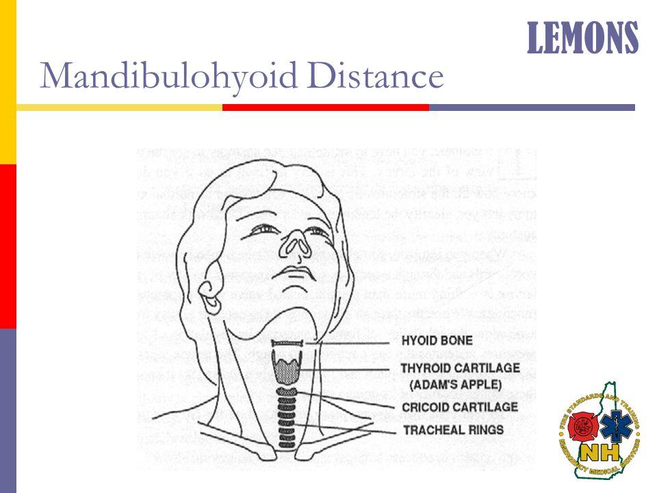 Mandibulohyoid Distance LEMONS