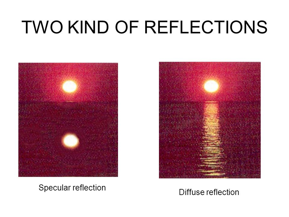 When the diffuse reflection occur.