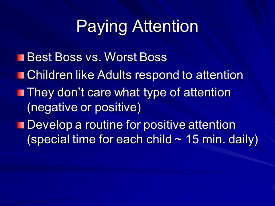 Paying Attention Best Boss vs.