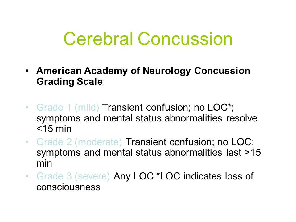 Cerebral Concussion What do you do.