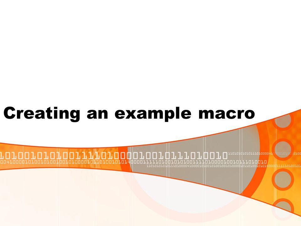 Creating an example macro