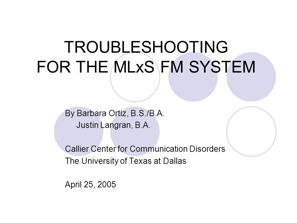 This Guide Will Help You…  Recognize the different parts of your hearing aid (HA) or cochlear implant (CI) FM system;  Identify a problem with your HA or CI FM system;  Implement the appropriate solution; and  Determine if professional service is needed.