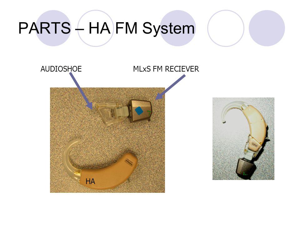 PARTS – HA FM System HA MLxS FM RECIEVERAUDIOSHOE