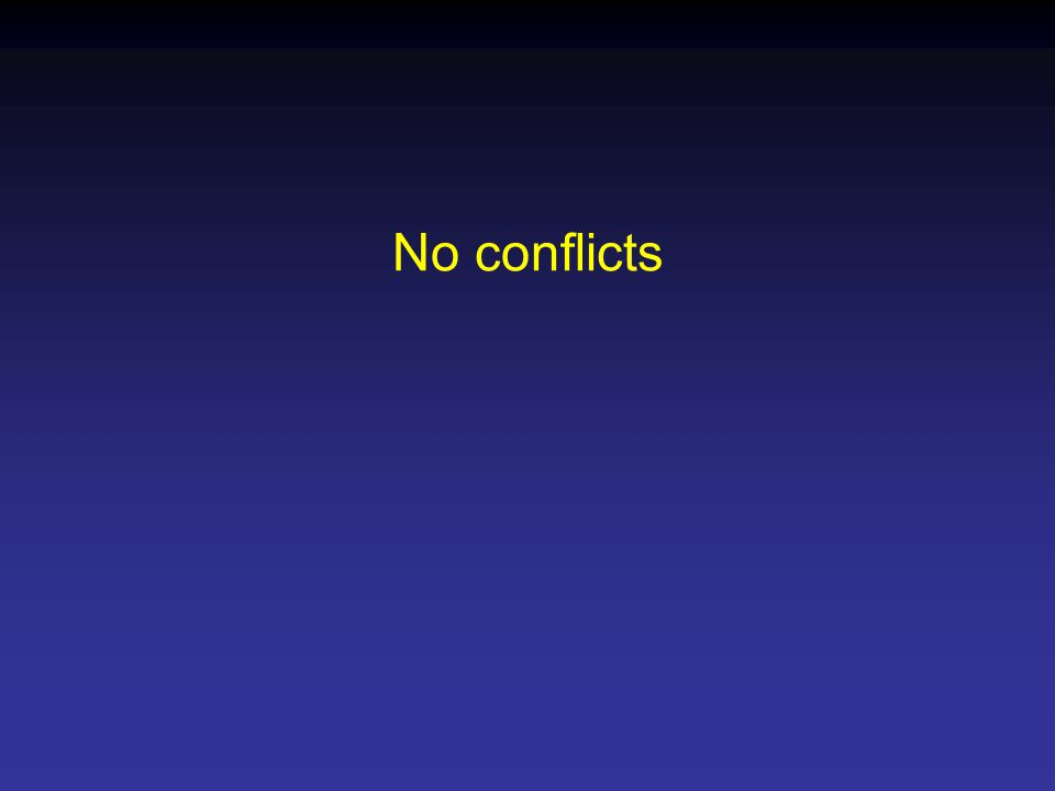 No conflicts