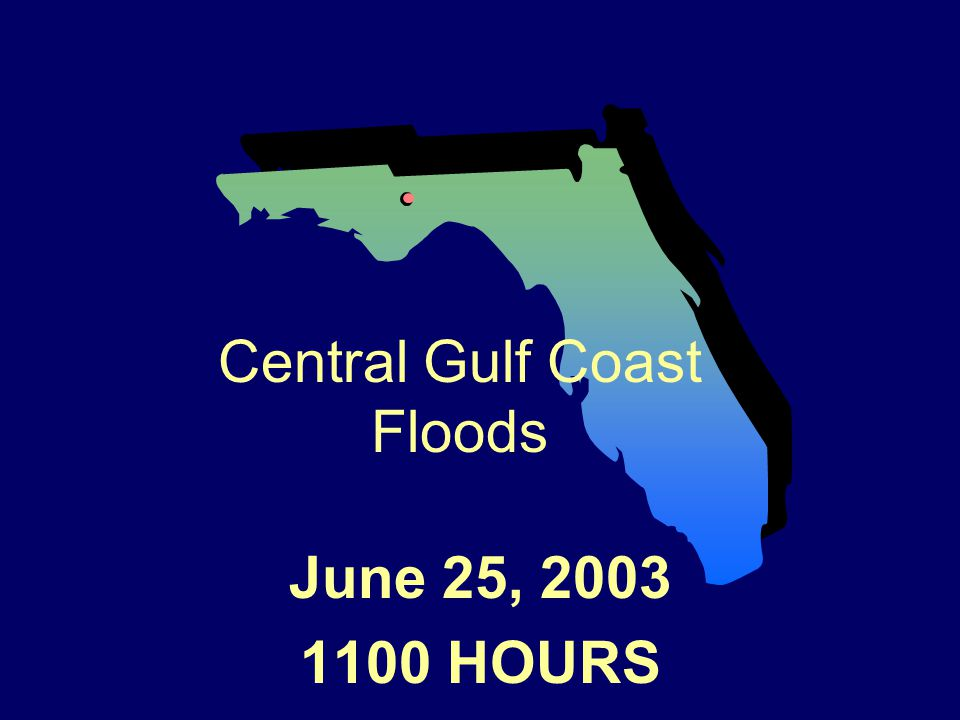 June 25, 2003 1100 HOURS Central Gulf Coast Floods