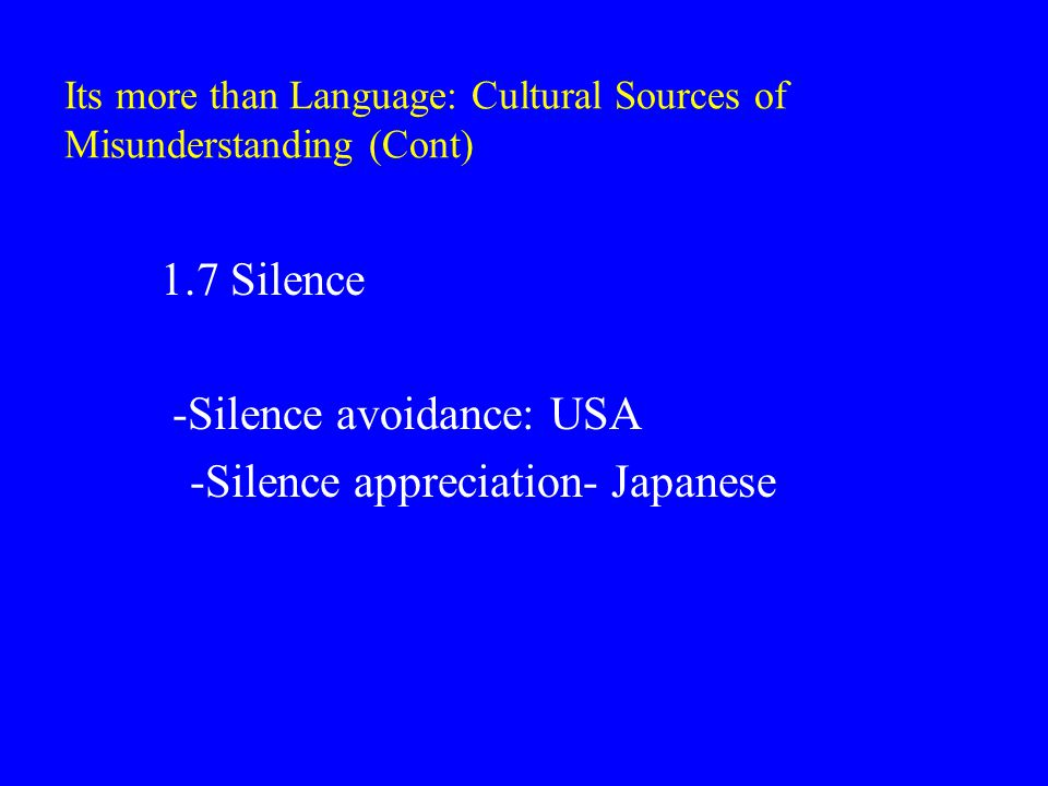 Cultural Norms Affecting Conflict in diverse Environment (Cont) 3.