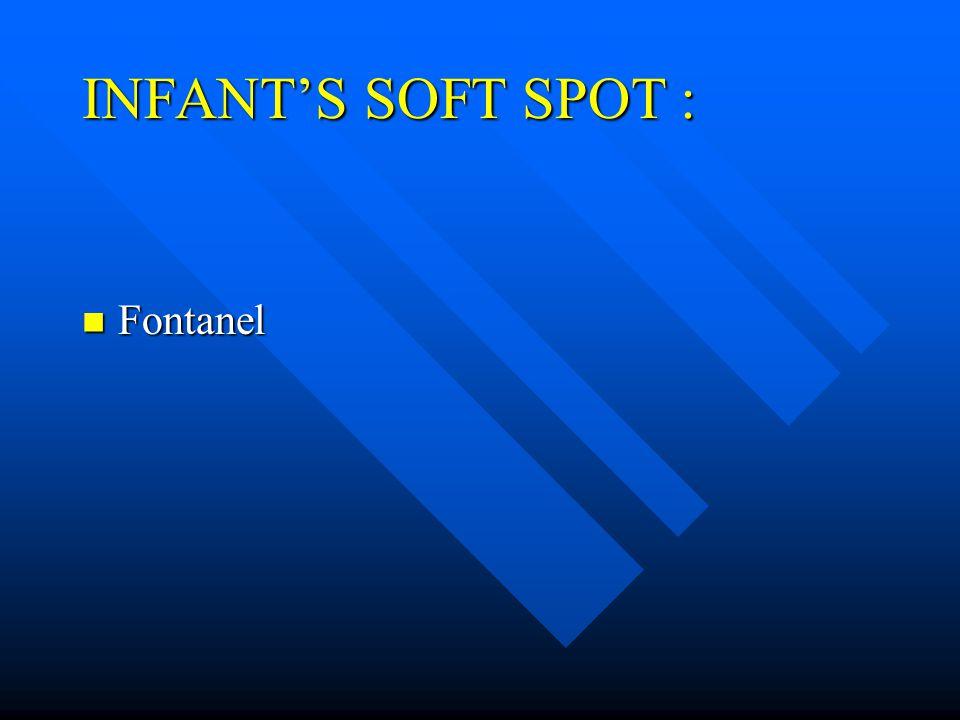 INFANT'S SOFT SPOT : Fontanel Fontanel