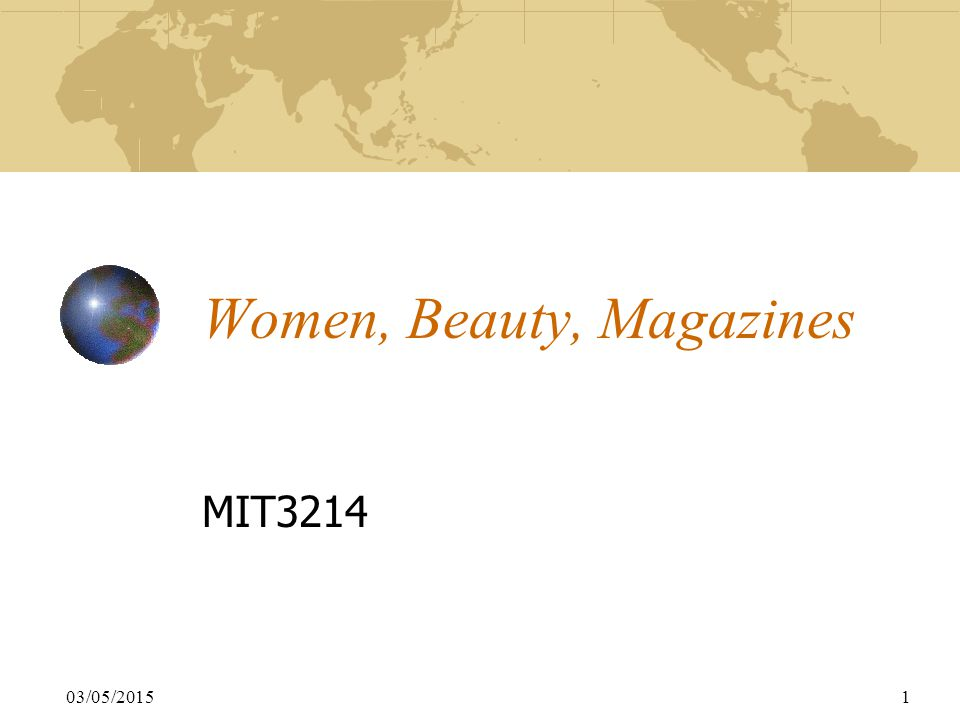 03/05/20151 Women, Beauty, Magazines MIT3214