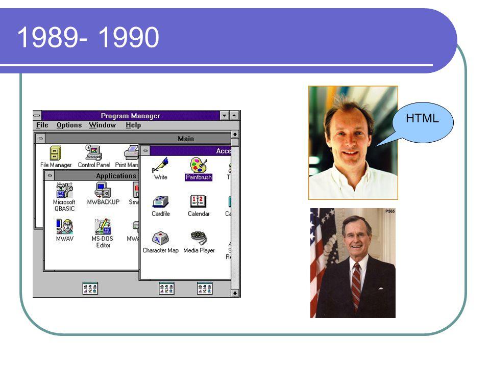 1989- 1990 HTML