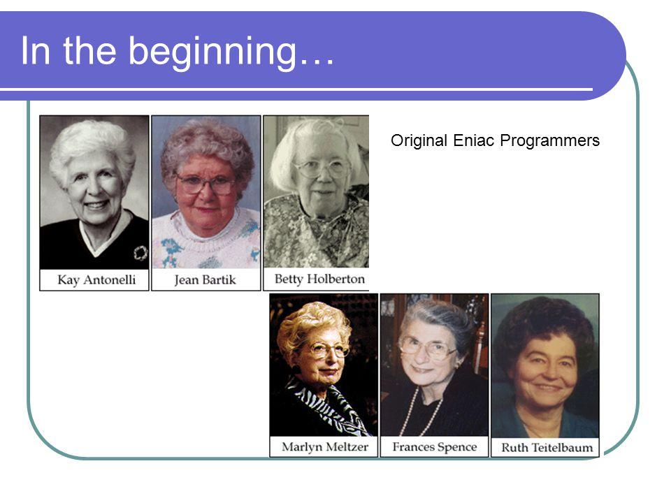 In the beginning… Original Eniac Programmers