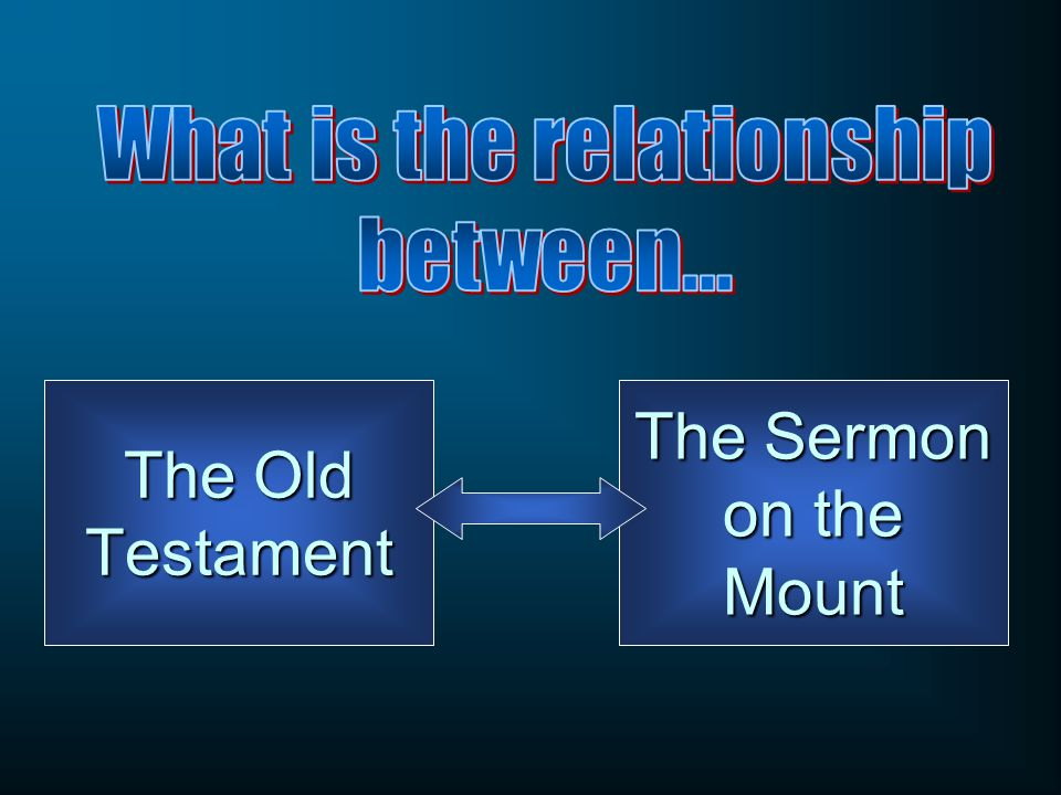 The Old Testament The Sermon on the Mount