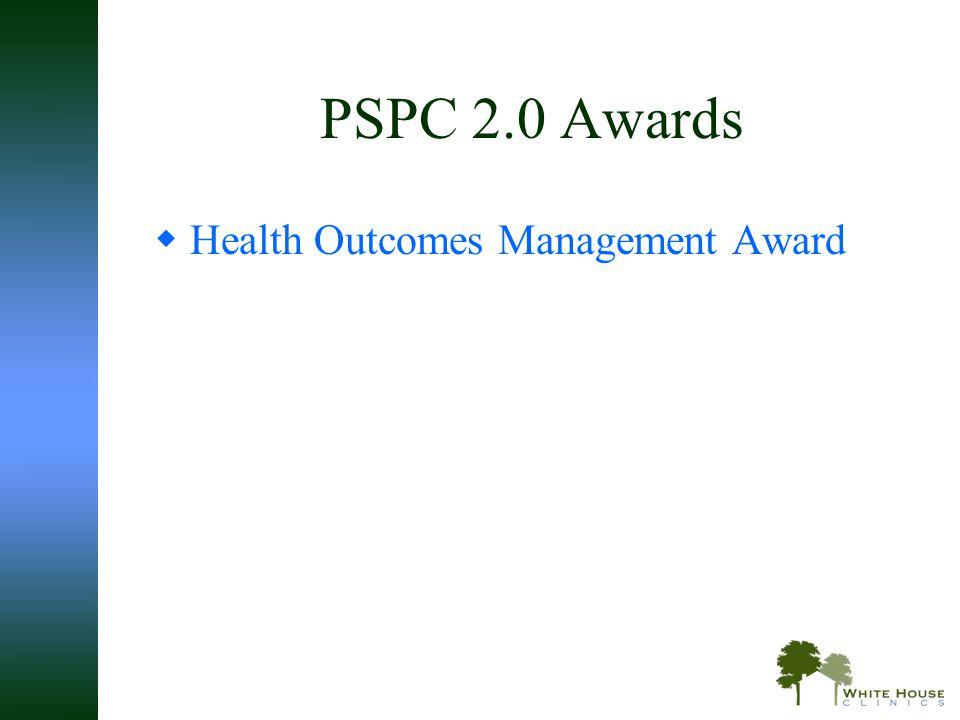 PSPC 2.0 Awards  Health Outcomes Management Award