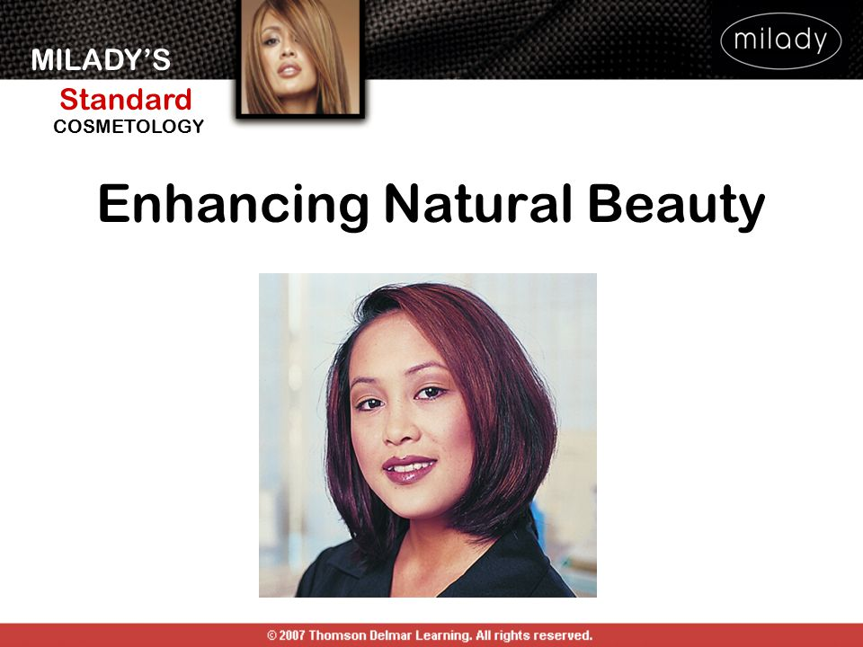 MILADY'S Standard Instructor Support Slides COSMETOLOGY Makeup Application Procedure Apply foundation.
