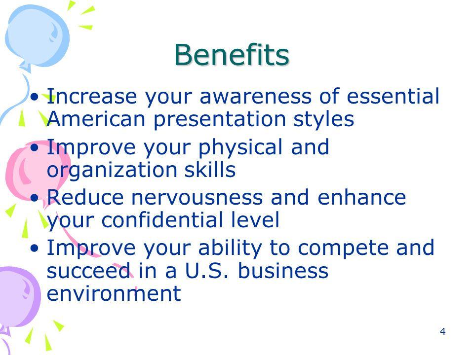 5 6.Learn and practice American presentation language strategies 7.
