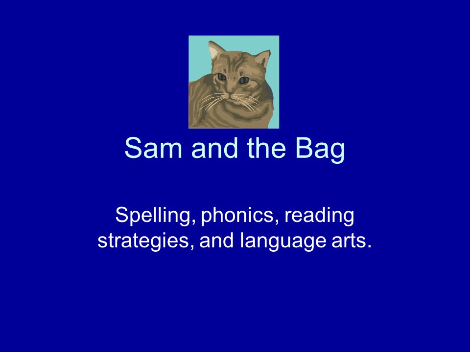 Sam and the Bag Spelling, phonics, reading strategies, and language arts.
