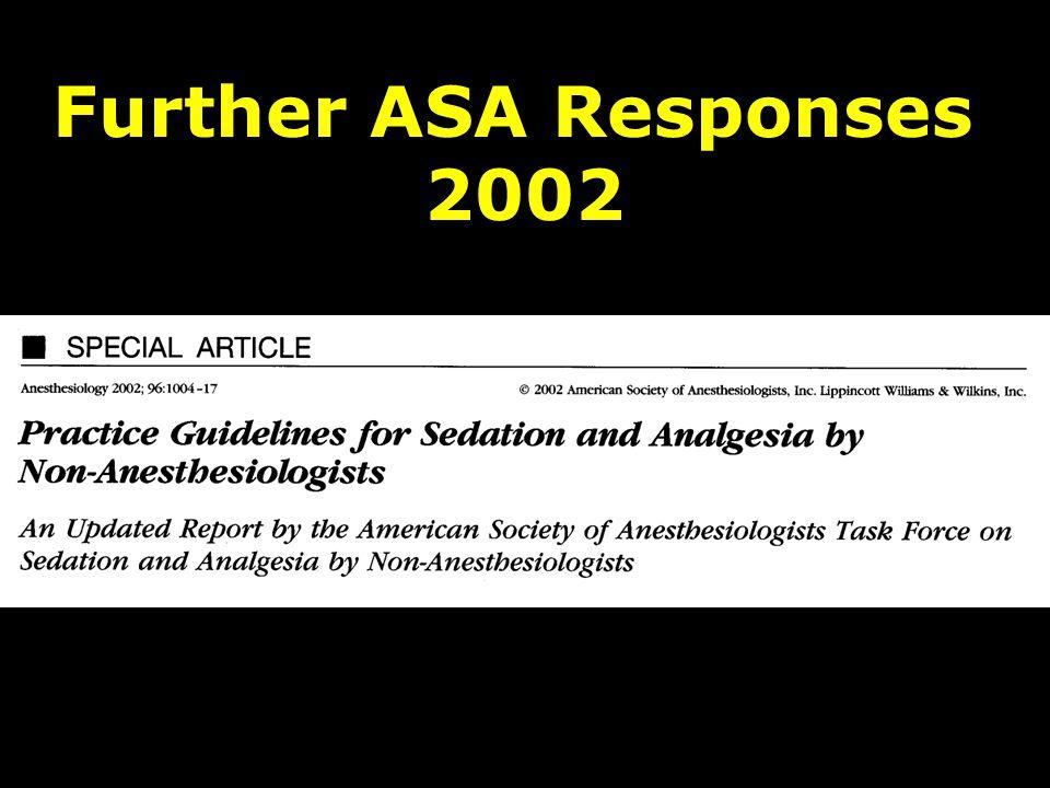 Further ASA Responses 2002
