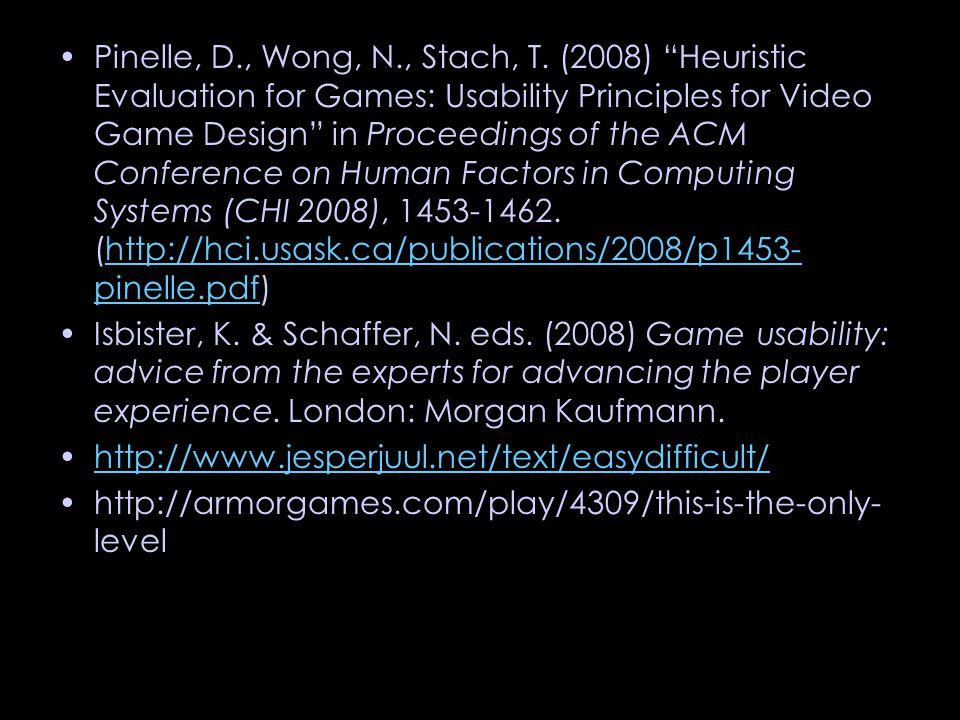 Pinelle, D., Wong, N., Stach, T.