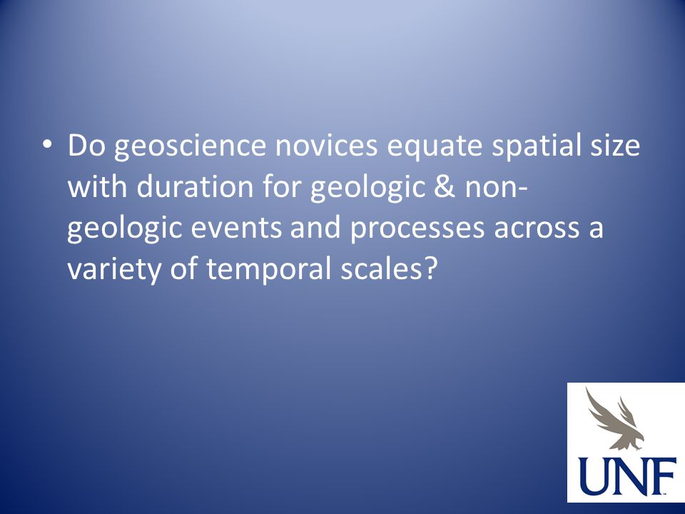 Do geoscience novices equate spatial size with duration for geologic & non- geologic events and processes across a variety of temporal scales