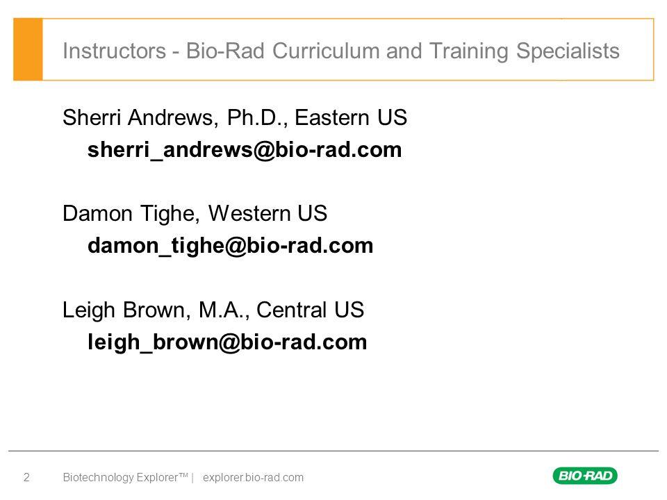 Biotechnology Explorer™ | explorer.bio-rad.com 23 Chemistry in Action