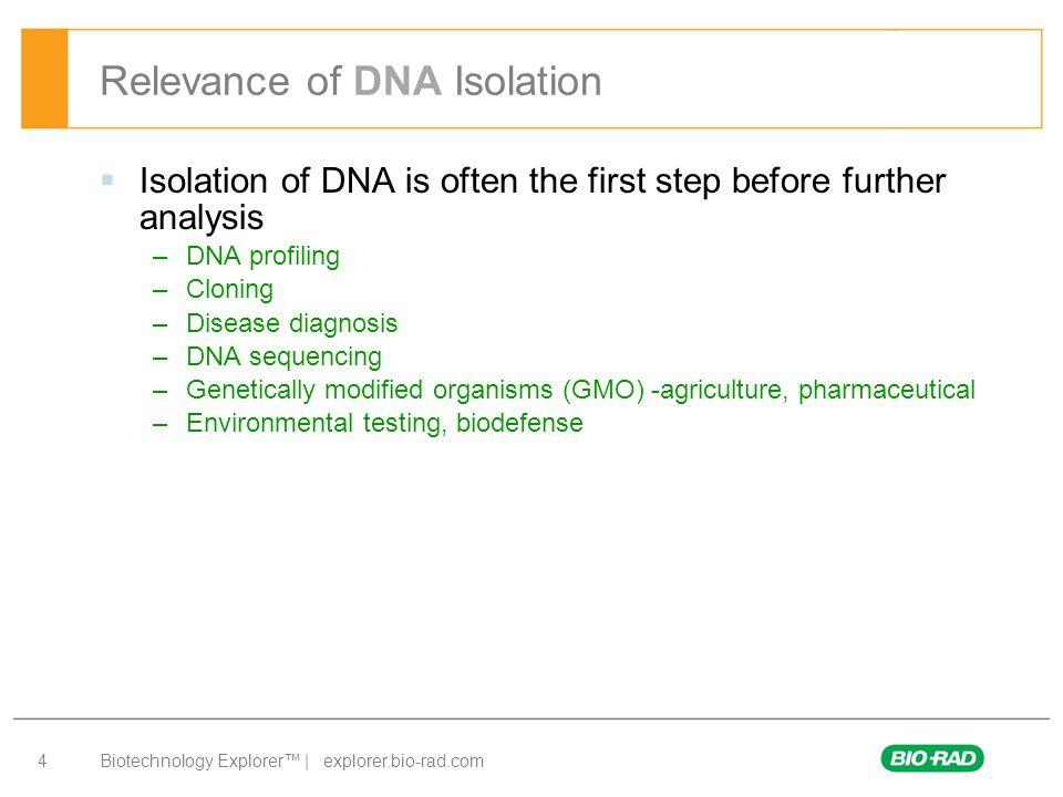 Biotechnology Explorer™ | explorer.bio-rad.com 15 WHY PERFORM EACH STEP?