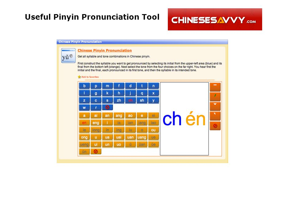Useful Pinyin Pronunciation Tool