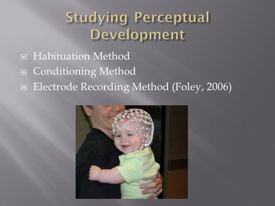  Habituation Method  Conditioning Method  Electrode Recording Method (Foley, 2006)